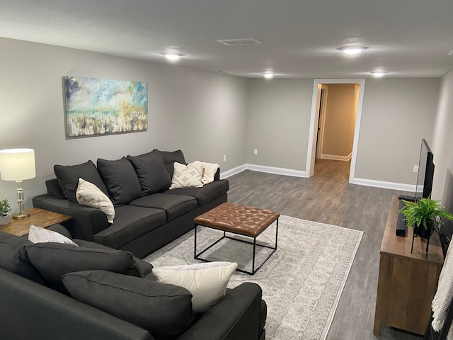 basement flooring before and after