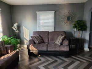herringbone vinyl plank flooring living room