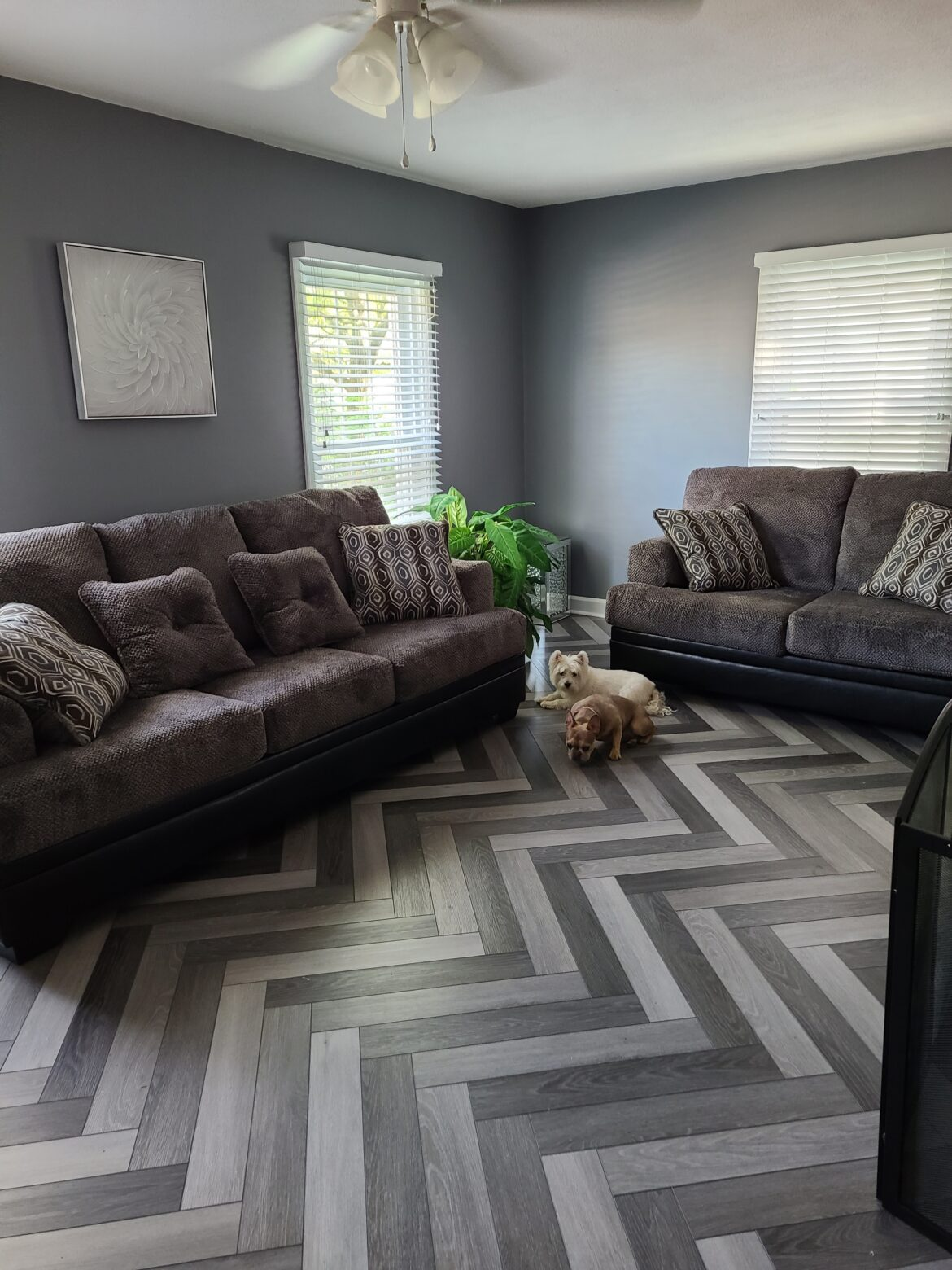 herringbone vinyl plank flooring