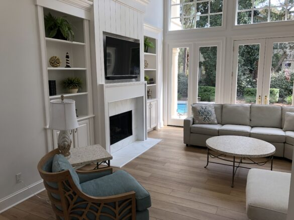 family vacation home tour living area