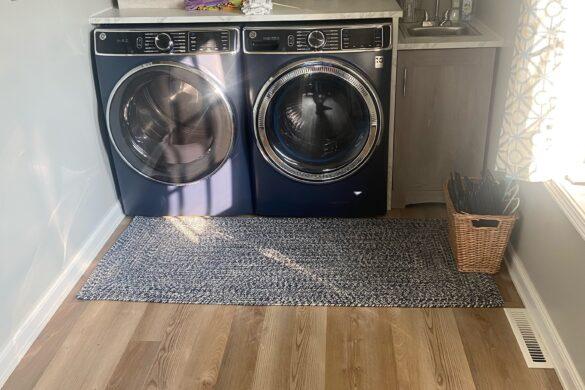 neutral laundry room flooring