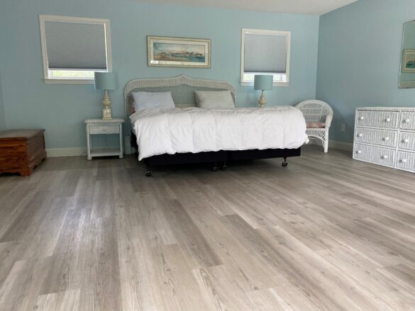 COREtec Bedroom Flooring - Neutral Tones with A Simple Design