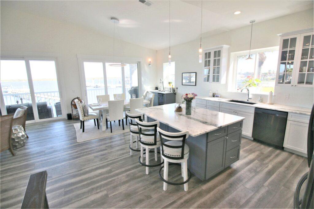 kitchen with COREtec vinyl flooring