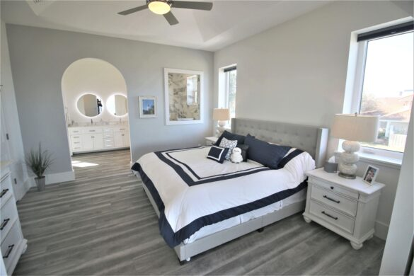 beach house bedroom after photo
