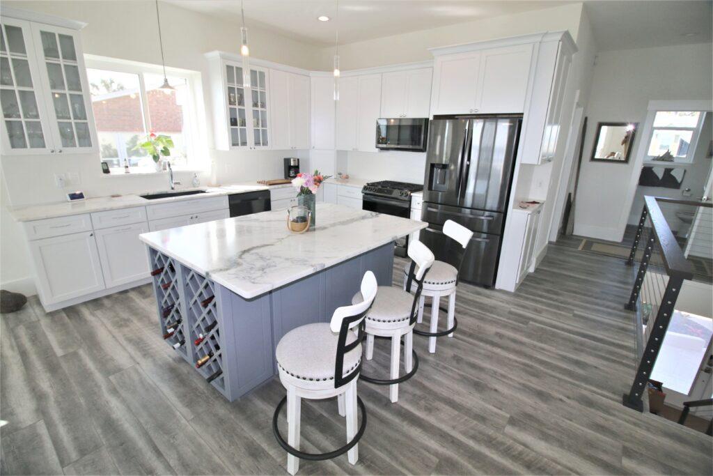 beach house tour kitchen after
