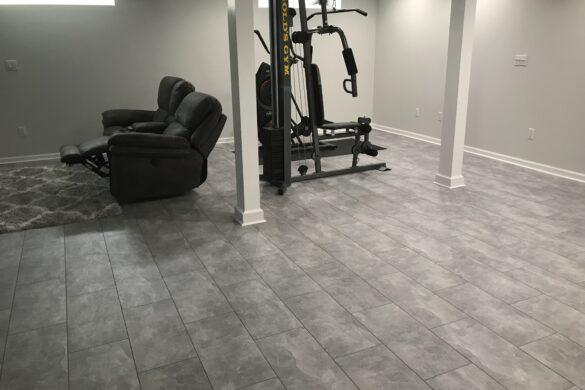 basement tile flooring