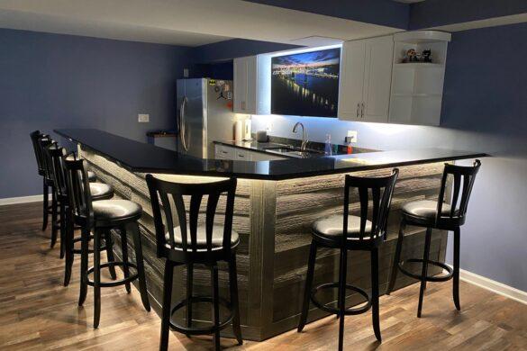 modern home bar