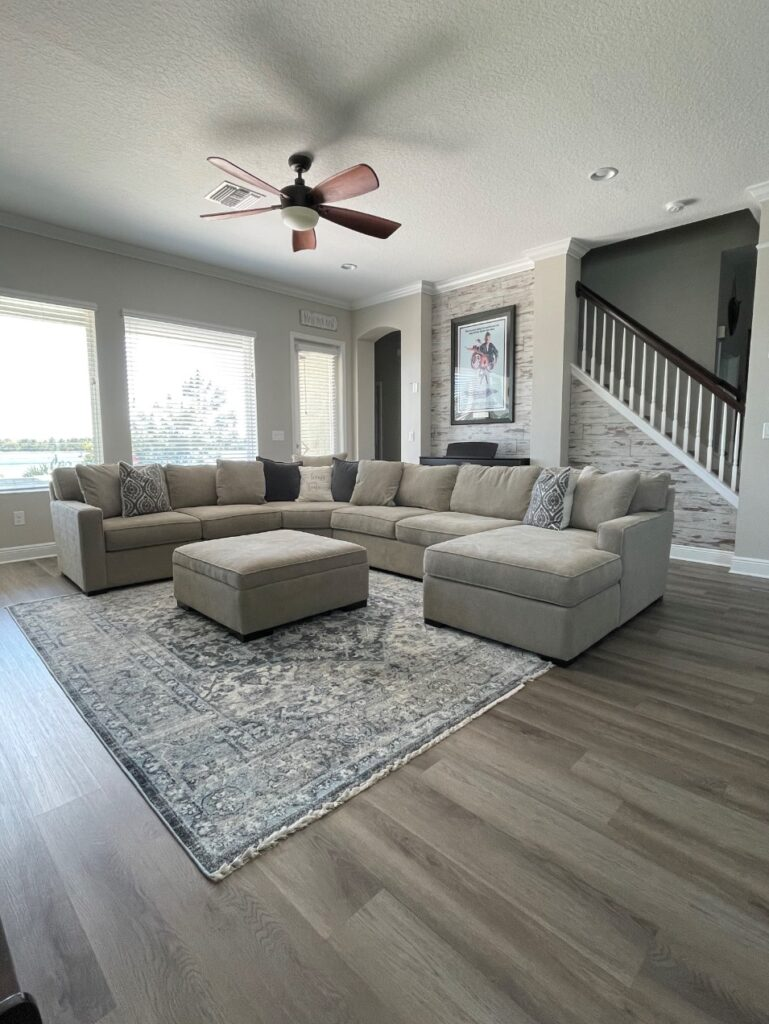 living room in gorgeous home tour
