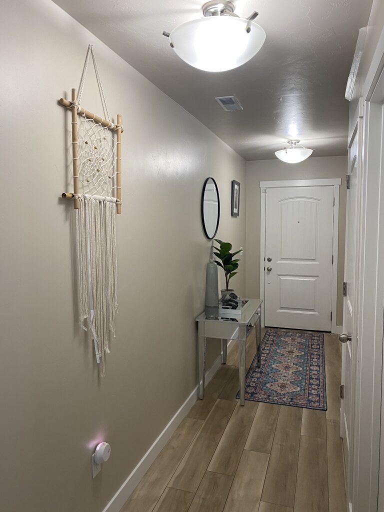 bohemian style house hallway