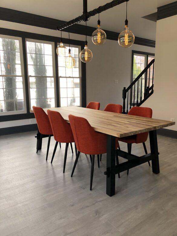 minimalist home tour dining room