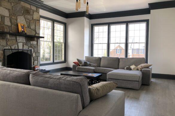 minimalist home tour living room