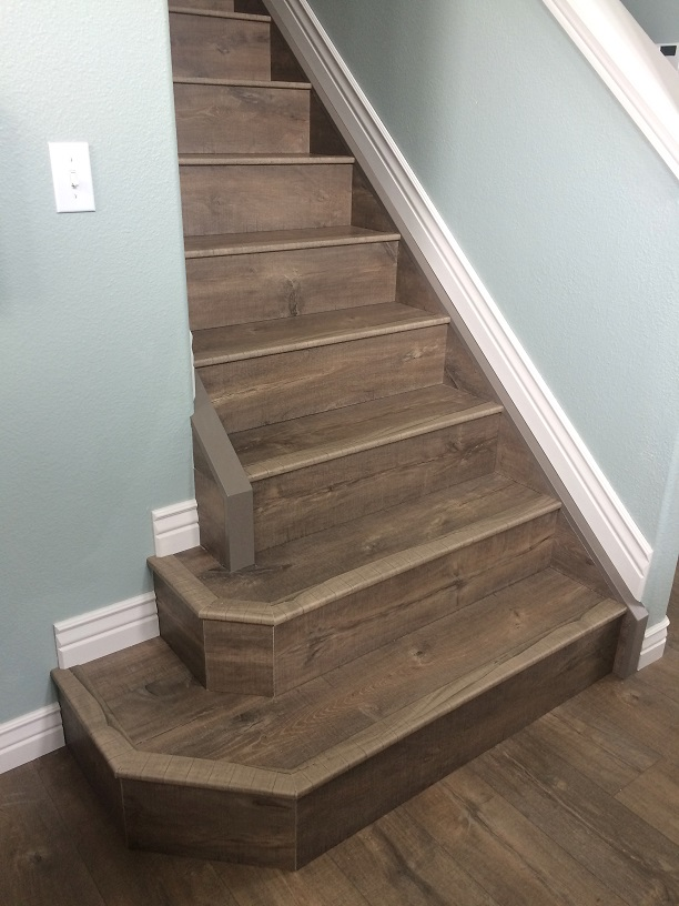 Beautiful Brown Laminate Flooring, Laminate Flooring On Stairs