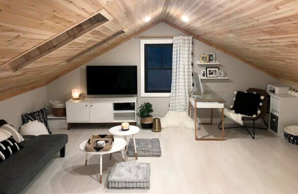 Stunning Attic Transformation home workspace
