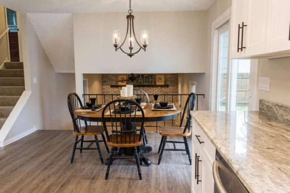 Split Level House with open concept kitchen and dining room