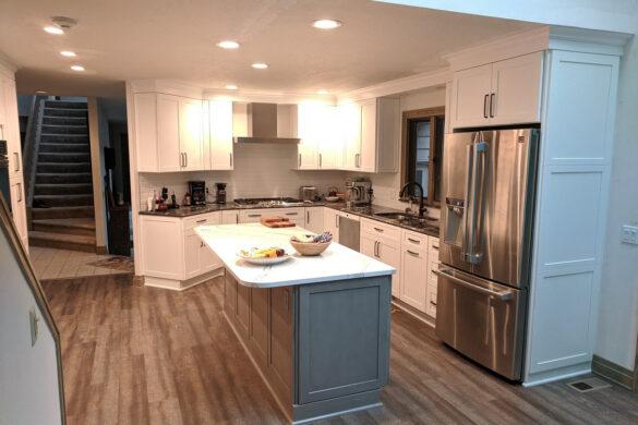 weathered kitchen flooring