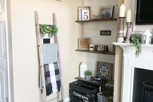blanket ladder with bestlaminate sound and heavy sherwood weathered oak vinyl flooring