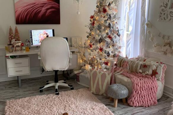 Shabby Chic Home Office With Classen Fresco Adventure Line Laminate Flooring