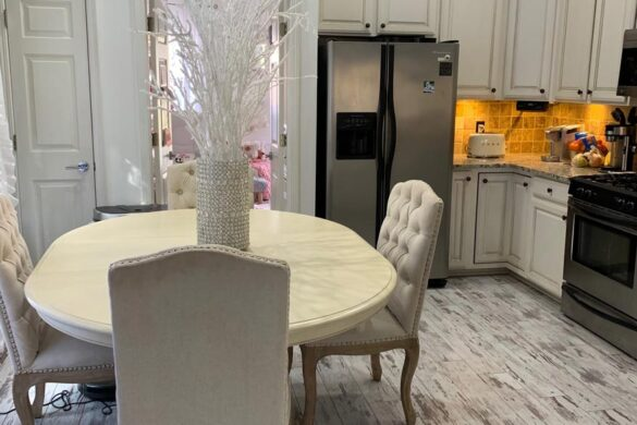 Shabby Chic Dining Room With Classen Fresco Adventure Line Laminate Flooring