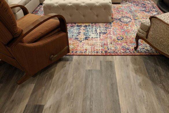classic family room coretec plus blackstone oak vinyl flooring