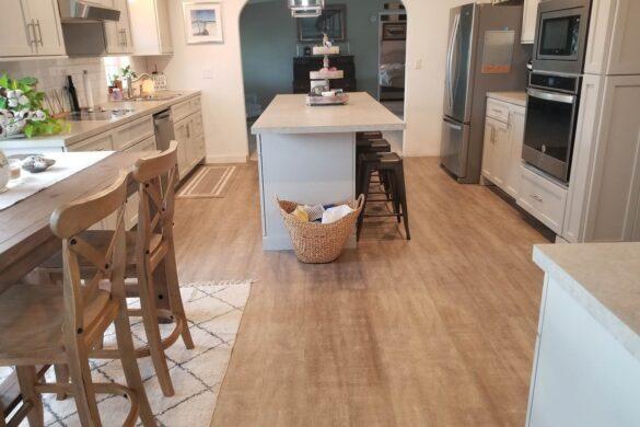 Modern Farmhouse Kitchen with COREtec Plus Nantucket Oak WPC vinyl Flooring