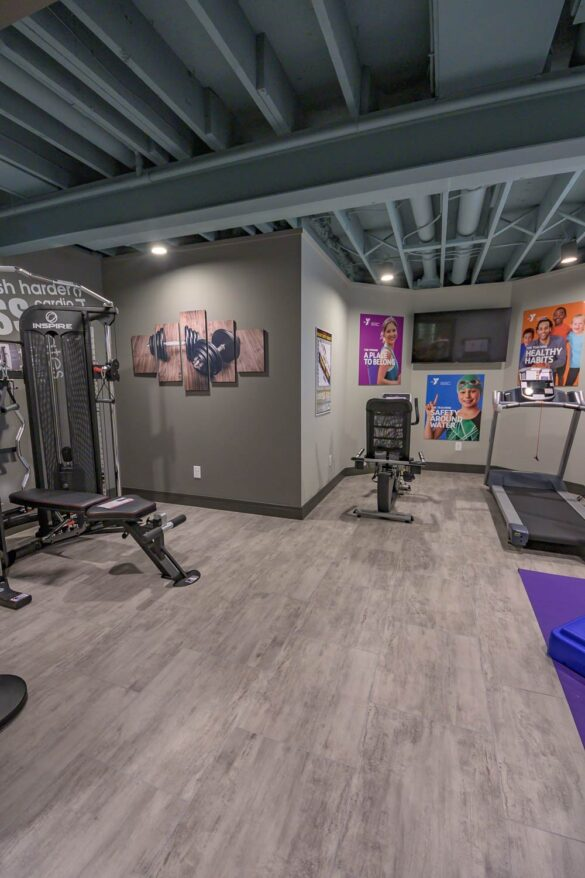 home gym with coretec plus enhanced wexford vinyl