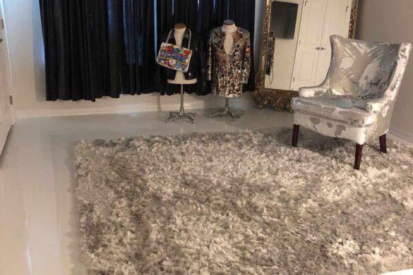 Luxury Bedroom with Elesgo Glamour Life Arktis White Laminate Flooring