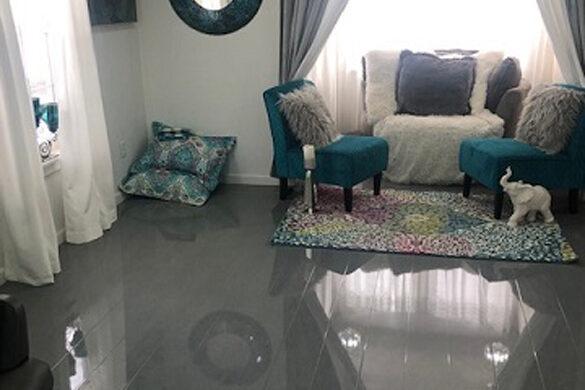 Gray High Gloss flooring