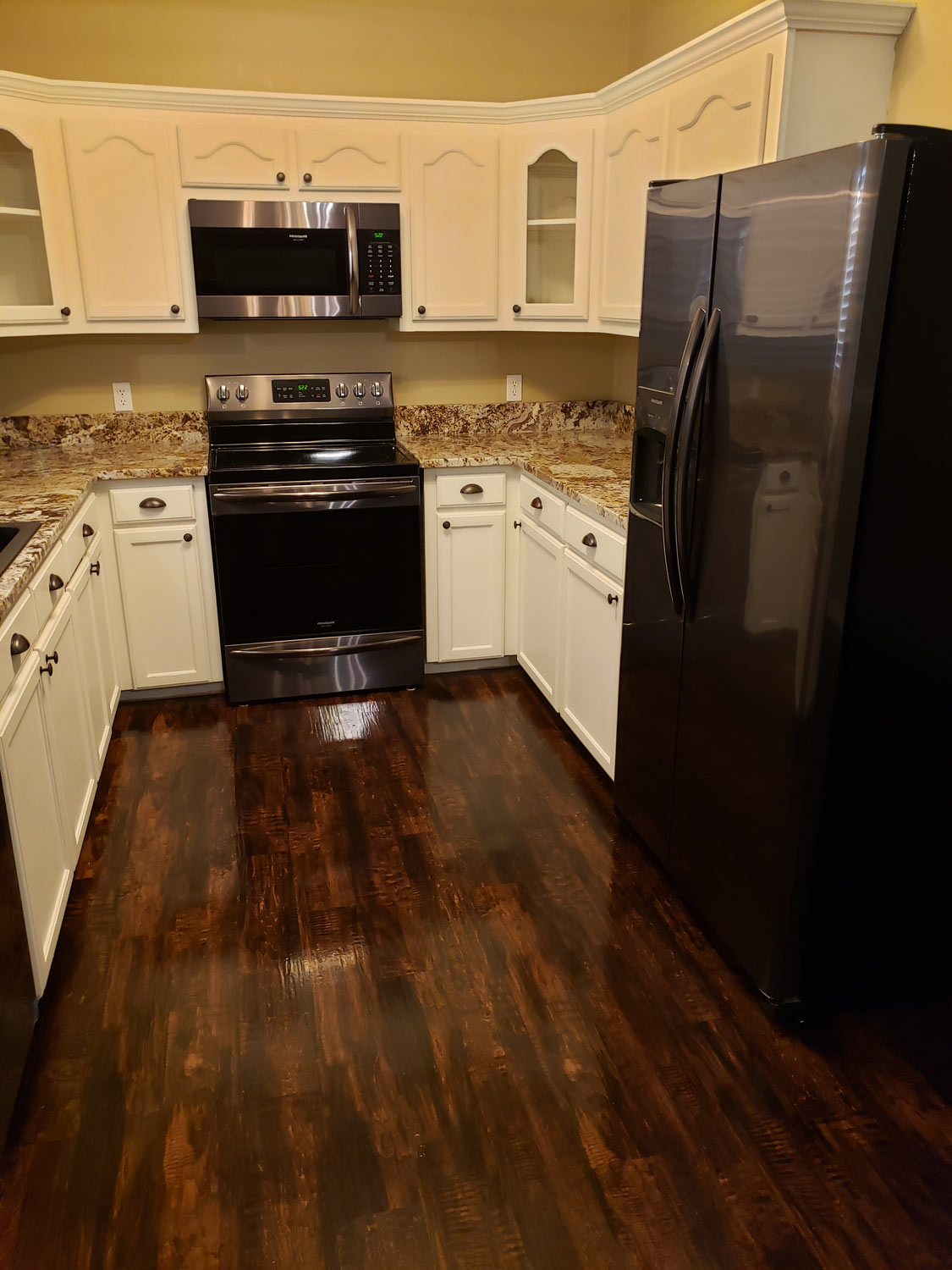Kitchen Flooring Ideas Brown Flooring With Golden Details