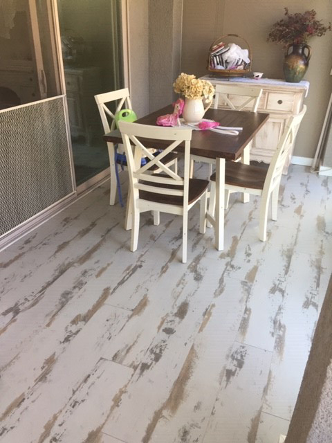 Cottage Dining Room With Shabby Chic, Shabby Chic Laminate Flooring