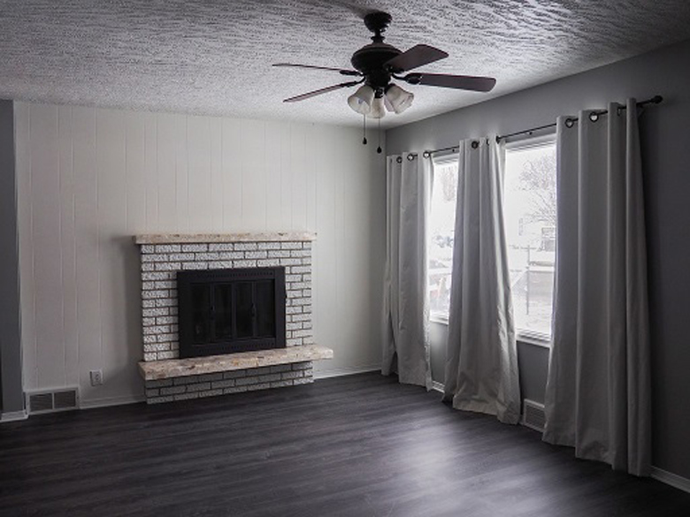 Traditional Living Room Dark Ashy Floors With Light Details