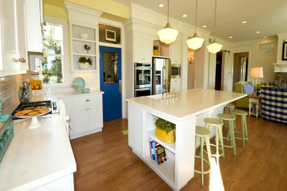 timeless kitchen with quick step malted tawny oak laminate