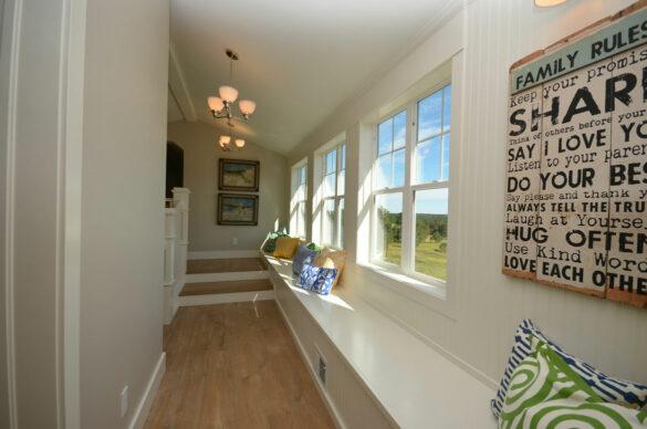 farmhouse hallway with quick step malted tawny oak laminate
