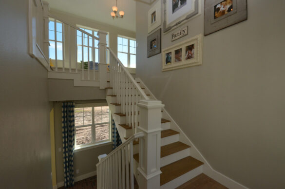 farmhouse stairs with quick step malted tawny oak laminate