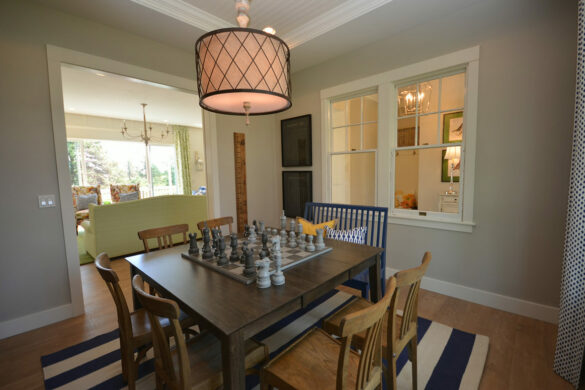 family game room with quick step malted tawny oak laminate