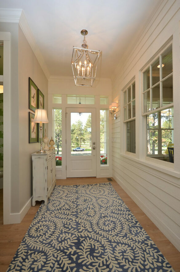 farmhouse entryway with Quick-Step laminate flooring