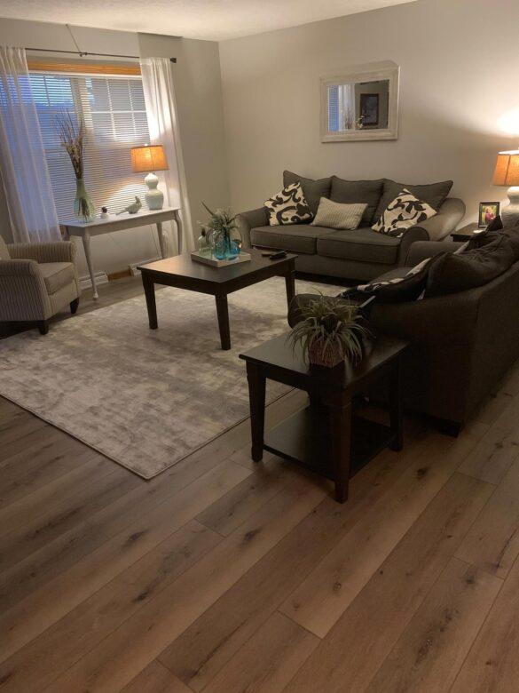 traditional living room with timeless designs everlasting laurel oak vinyl flooring
