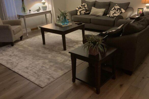 traditional family room with timeless designs everlasting laurel oak vinyl flooring