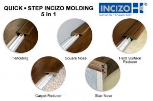 Quick step incizio 5 in 1 molding installation - Pose quick step uniclic ...