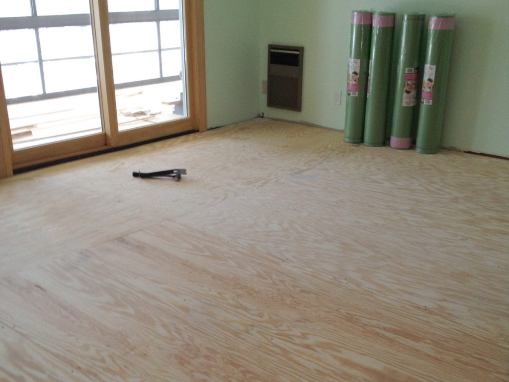 Plywood Suloor For Laminate Installation
