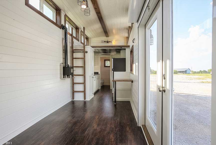 Container Home with Vinyl Flooring